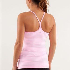 Lululemon power Y tank pink stripes